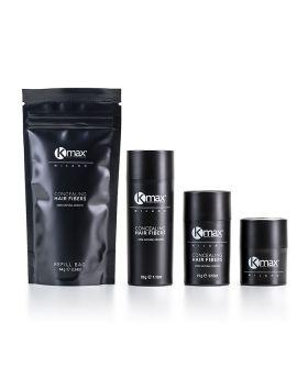 Kmax Concealing Hair Fibers - Black Edition